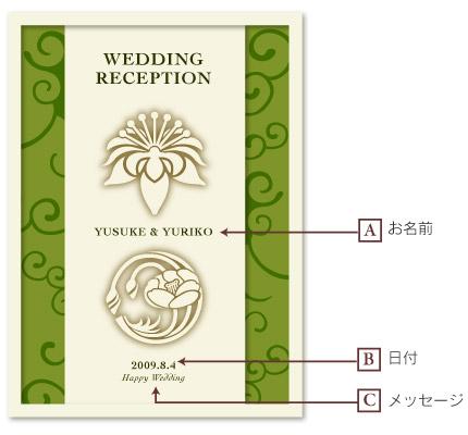 和紙のウェルカムボード_2紋入り_デザイン