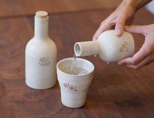 花個紋のボル陶とフリーカップ